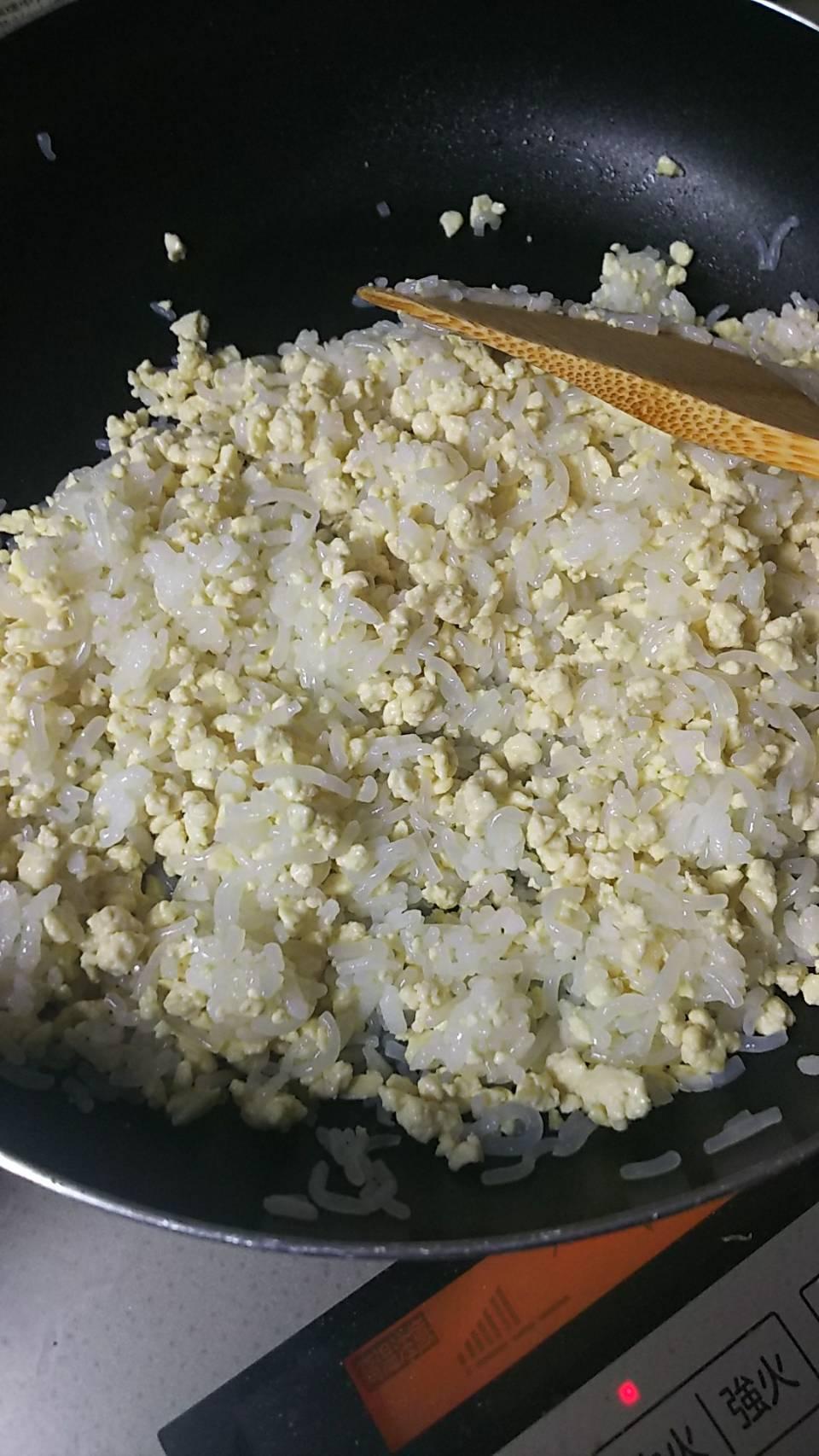 しらたき豆腐ご飯